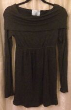 Judith March Women's Cowl Shawl Neck Long Sleeve Dress•Size Small
