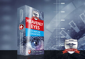 Eye Drops for Infections and Conjunctivitis Ethos Heavenly Eyes 2 x 5ml One Box