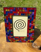Mosaic Glass Photo Frame  Rainbow Colours Fair Trade Hand Made & Crafted In Bali