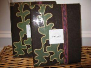 2 Natori SUZANI Euro Shams $350 Embroidered