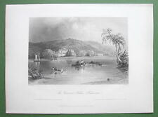 CANADA Fredericton Governor's House - 1841 Antique Print by BARTLETT