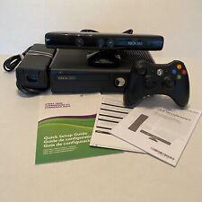 Microsoft Xbox 360 Slim 4GB Black Console S Model Bundle Cables, Manual, Kinect
