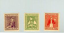 Svizzera 1917 pro juventute costumi cantonali mnh