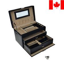 Jewelry Box Storage 16 Compartments Large Capacity Showcase Organizer, Black