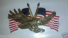 "Add On EAGLE w/USA FLAG EMBLEM (4-1/4"" x 2-3/4"") - Honda Goldwing 1200 1500 1800"