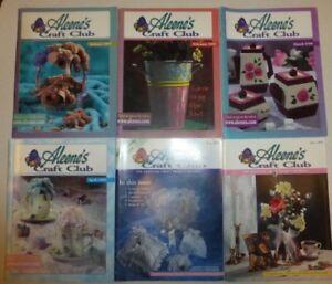Lot of 12 Aleene's Craft Club Magazines,Jan. 1999-Dec.1999, Tons of Craft Fun!MS