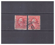 US Perfins RT&/S Co pattern #R137   2 stamps