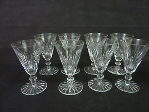 """8 Waterford Crystal Eileen Glass 4 1/2""""  Sherry Or Port Glasses"""