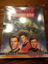 VINTAGE STAR TREK JUDGEMENT RITES PC VIDEO GAME NEW SEALED CD ROM DOS VERSION