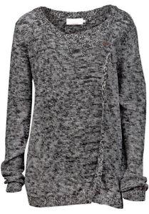 John Baner Ladies Black Marl Wrap Cardigan - Sizes UK 8/10
