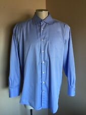 Mens PETER MILLAR Nanoluxe Easy Care Button Down Collar Shirt 17.5/ Long