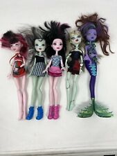 Lot of 5 Monster High Dolls Mattel