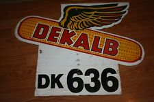 Original 1989 Dekalb Seed Feed Corn Farm Row Marker Double Sided Sign