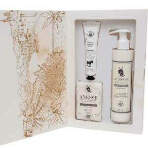 French Gift Sets with Fresh Organic Donkey Milk - Soap, Hand Cream, Body Lotion