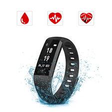 Fitness Tracker Smart Sport Orologio frequenza cardiaca Pressione sanguigna nero