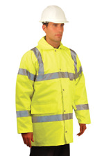 NWT 5 in 1 Class 3 High Visibility OCCUNOMIX Yellow Parka Coat Vest Mens XL