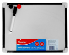 Whiteboard With Pen Eraser & 2 Magnets A4 Size For Lists Notes Reminders Hanging