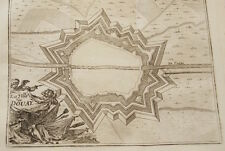 PLAN DE DOUAI GRAVURE 1743 NORD OLD ETCHING PRINT R562