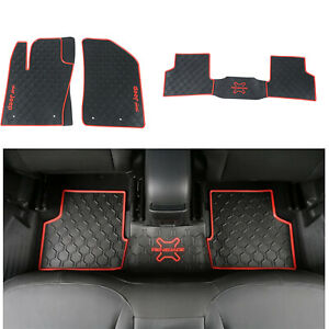 6 Colors Leather Car Floor Mats for Jeep Renegade 2016-2018 Waterproof Carpets