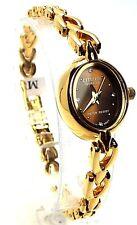 New Citizen Ladies Gold-tone 04 Genuine-Crystals, Oval-dial Dress Watch 0029