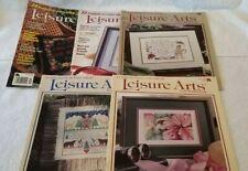 Leisure Arts Cross Stitch Magazines - 5 issues 1998