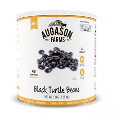 New Augason Farms Black Turtle Beans 1 Can Emergency Storage Food