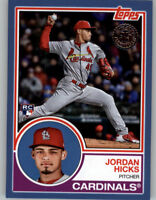 Jordan Hicks 2018 Topps Update 1983 TOPPS Blue Parallel Cardinals RC #83-4