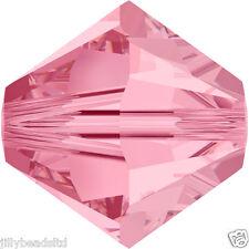 SWAROVSKI 5328 XILION Bicone Beads 4mm: LIGHT ROSE (50 Perline)