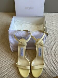 Jimmy Choo Beige Patent Wedges 37