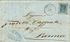 76-PIEMONTE, INTRA, NUMERALE A PUNTI + DOPPIO CERCHIO PER PARMA, 1873