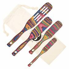 Pakka Wood 4-Piece Spurtle Kitchen Utensil Set Cooking Spoons Stirring Tools