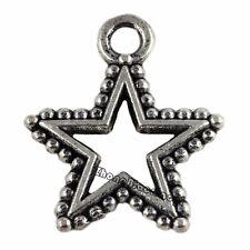25Pcs Tibetan Silver Star Charms Pendants Jewelry Findings 17x14.5mm on sale