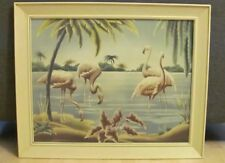 Turner Mfg Co, Circa 1940s-1950s Pink Flamingo Framed Print. Local Pickup.