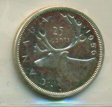 ICCS Canada 1956 25 cents PL-65 XJA 505
