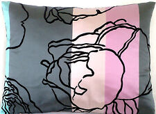 Designers Guild Cushion Cover Valadier Pink Grey Black Satin Silk Rectangular
