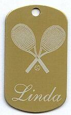 Personalized Tennis Bag Tag, Dog Tag or Id