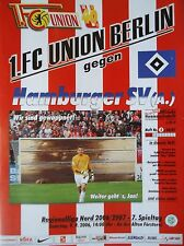 Programm 2006/07 Union Berlin - Hamburger SV Am.