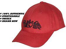 100% auténtico Quiksilver Unisex Gorra Roja De Baseball Para Hombre / Para Mujer-Flexfit Hat