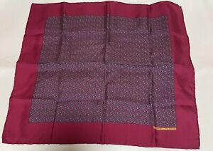 "Hermes Pocket Square/scarf 16"" Silk"