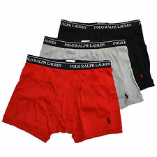 Polo Ralph Lauren Mens Underwear 3 Pack Boxer Briefs Classic Fit Pony Logo New