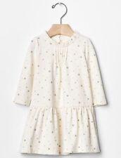 GAP Baby Girls Size 3-6 Months Organic Ivory / Gray / Silver Stars Dress / Skirt