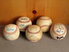 Vintage Group of 5 Rawlings & Wilson Official Eastern League Baseballs Signed