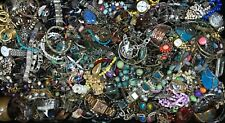 10 lbs Jewelry Lot Wearable/Craft Necklaces Earrings Brooches Bracelets Rings +