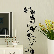 Removable Black ratten Flower Home Room Decor Wall Stickers Art Mural Decal