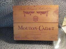 MOUTON-CADET 3 Bottle Wood Gift Box VINTAGE ROTHSCHILD (box only)