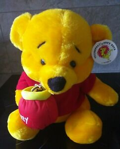 Winnie The Pooh Plush Toy with Honey Pot New 28cm
