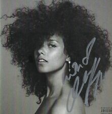 "ALICIA KEYS ""HERE"" AUTOGRAPHED CD COVER PSA DNA FULL LETTER AD04273"