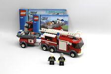 LEGO 7239 City Fire Truck Fire Man Minifigures 100% Complete