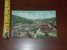 POSTCARD RARE OLD VINTAGE HOT SPRING ARKANSAS FROM TOWER OF EASTMAN HOTEL WOW