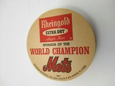 LOT OF 10 RHEINGOLD EXTRA DRY LAGER BEER COASTERS 1969 WORLD CHAMPION NY METS